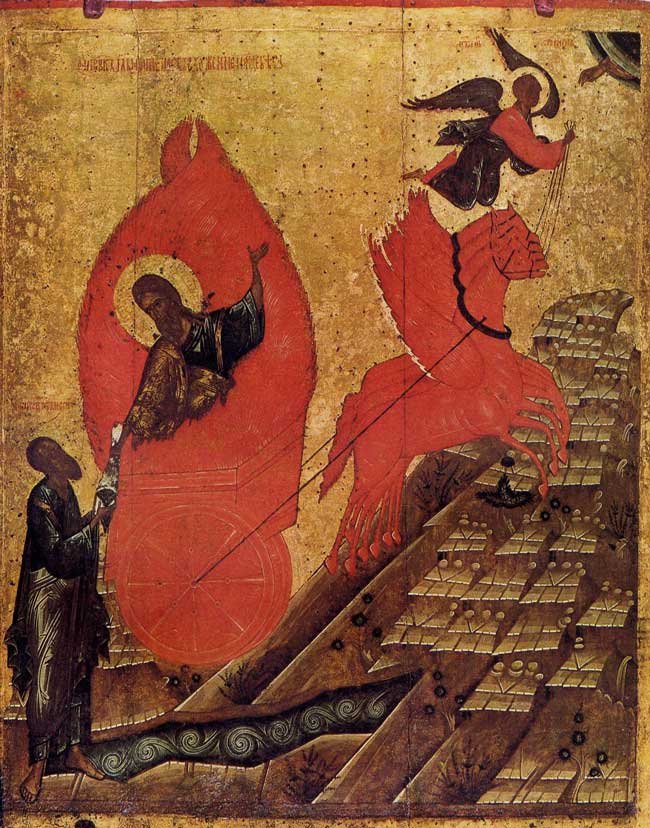 Le prophète Elie et son chariot, le Musée de Moscou