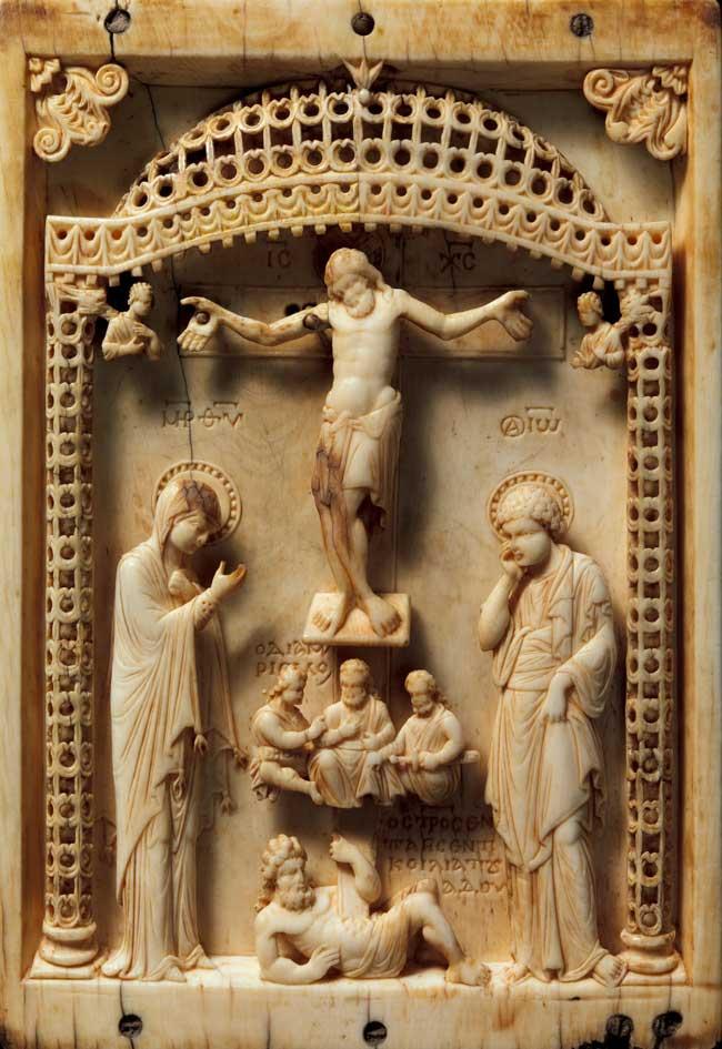 Sculpture crucifixion / ivoire