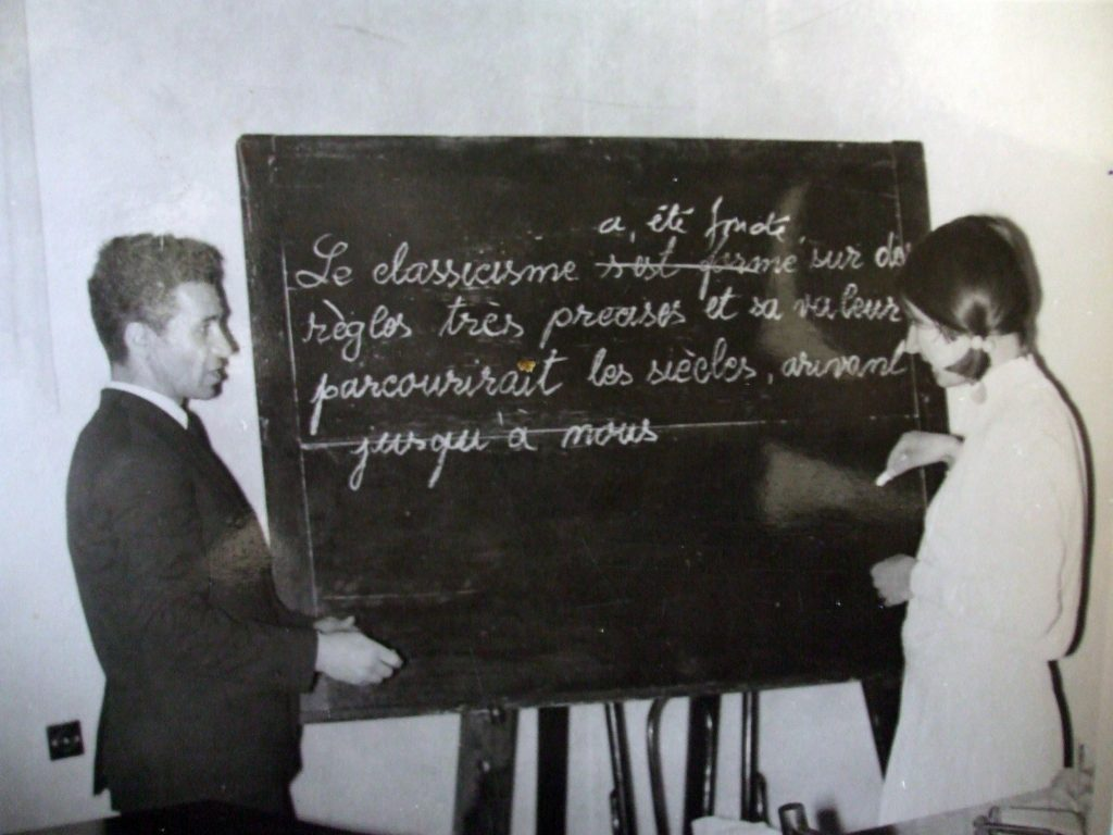Gheorghe Calciu-Dumitreasa, enseignant le français