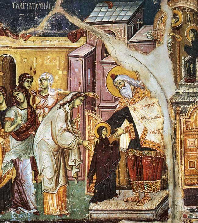Entrée de la Mère de Dieu dans le temple
