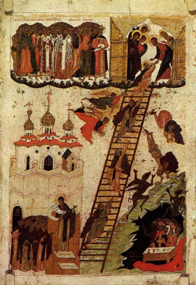 La vision de Saint Jean Climaque, XVIe siècle.
