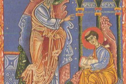 Le portrait de Saint Jean et Prochros, Les Évangiles, 1375