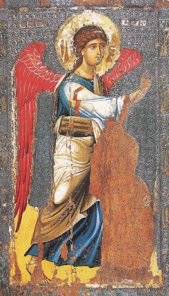 L'Annonciation, l'archange Gabriel